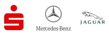 Sparkasse, Mercedes, Jaguar
