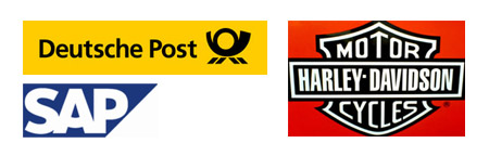 SAP, Deutsche Post, Harley Davidson